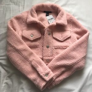 NWT Pink Cropped Jacket